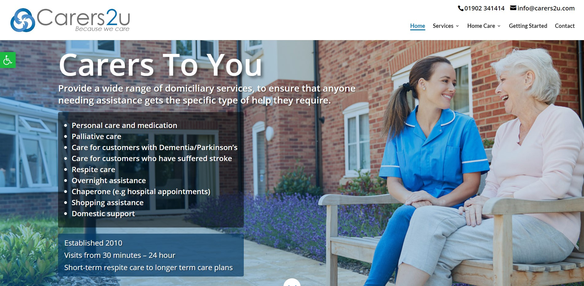 Carers to you website