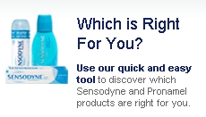 Sensodyne product finder