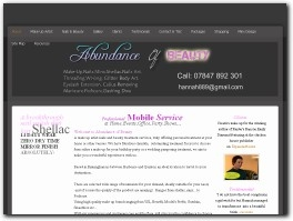 http://www.abundanceofbeauty.co.uk website