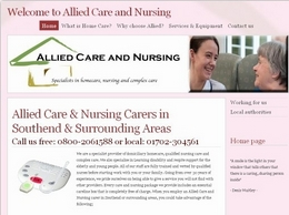 https://www.alliedcareandnursing.co.uk/ website