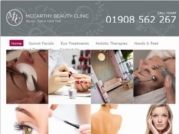 https://mccarthybeautyclinic.co.uk/ website