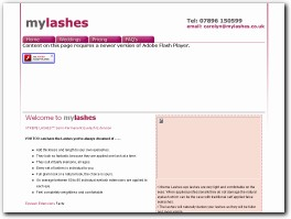 http://www.mylashes.co.uk website