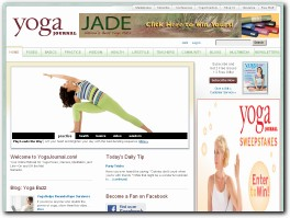 https://www.yogajournal.com/ website