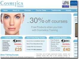 http://www.cosmeticatraining.co.uk website