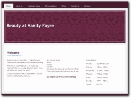 http://www.beautyatvanityfayre.co.uk website