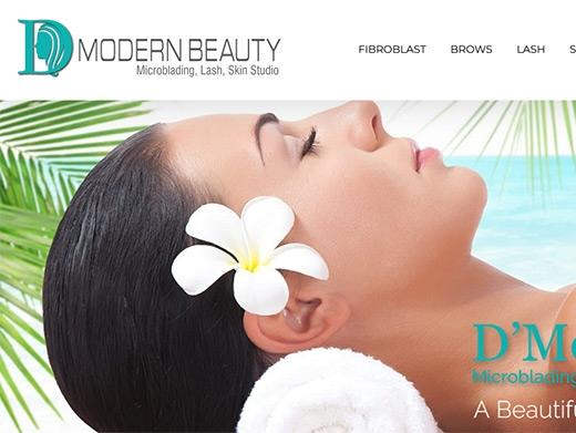 https://www.dmodernbeauty.com/ website