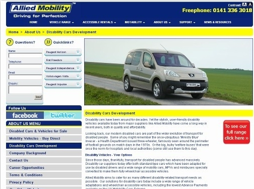 https://www.alliedmobility.com/disability-cars-development/ website