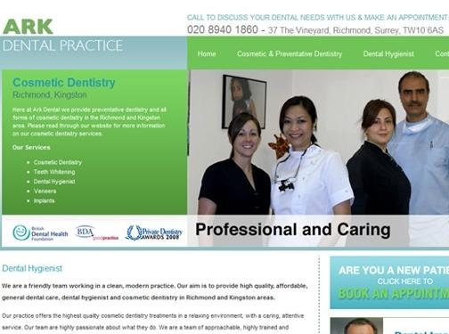 http://www.arkdentalpractice.co.uk/ website