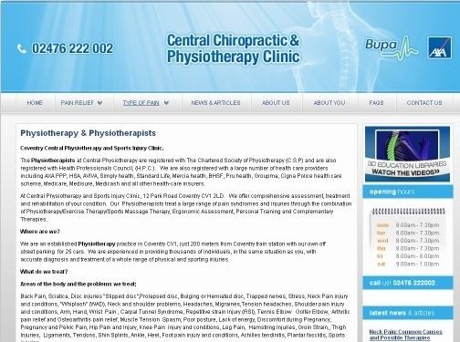 https://www.centralchiropracticclinic.co.uk/ website