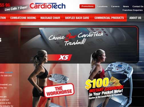 https://www.cardiotech.com.au/treadmills-australia website