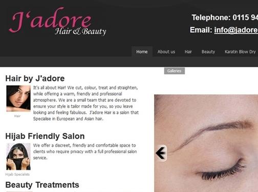 http://www.jadorehair.co.uk website