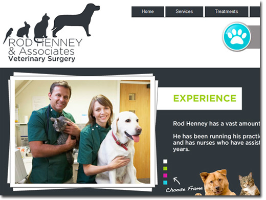 http://www.rodhenneyvets.co.uk/ website