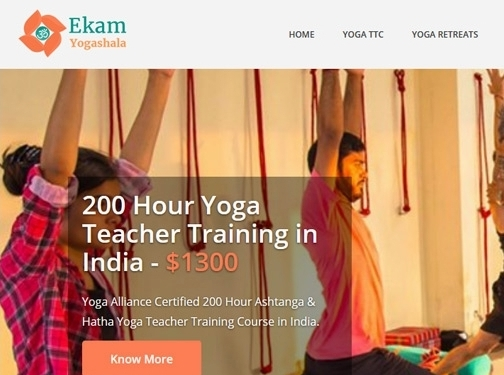 https://www.ekamyogashala.com website