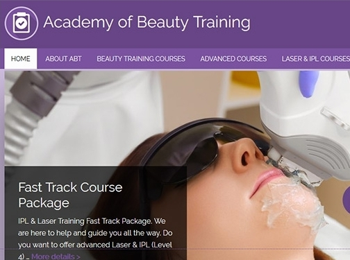 https://www.academyofbeautytraining.co.uk/ website