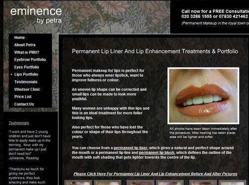 http://www.eminencebypetra.co.uk website
