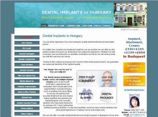 https://www.dentalimplanthungary.co.uk/ website
