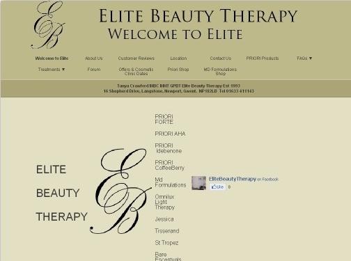 http://elitebeautytherapy.com website