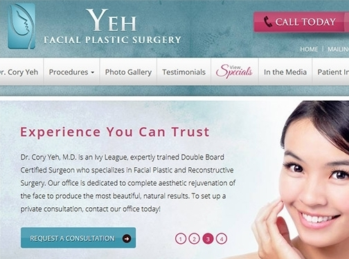 https://www.yehfacialplasticsurgery.com/ website