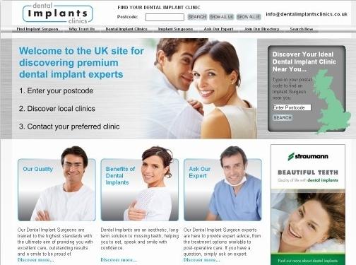 http://dentalimplantsclinics.co.uk/ website