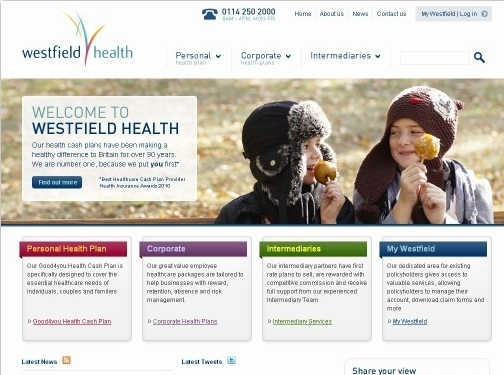 https://www.westfieldhealth.com/ website